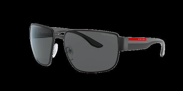 Prada Linea Rossa Man PS 56VS - Frame color: Matte Black, Lens color: Grey-Black, Size 62-16/130