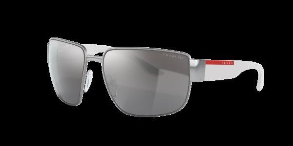 Prada Linea Rossa Man PS 56VS - Frame color: Silver, Lens color: Grey-Black, Size 62-16/130
