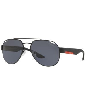 Prada Linea Rossa Men's Polarized Lifestyle Sunglasses, Ps 57US