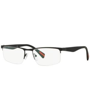 Prada Linea Rossa Ps 52FV Men's Rectangle Eyeglasses