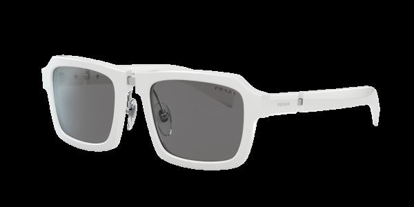 Prada Man PR 09XS - Frame color: White, Lens color: Grey-Black, Size 53-21/145