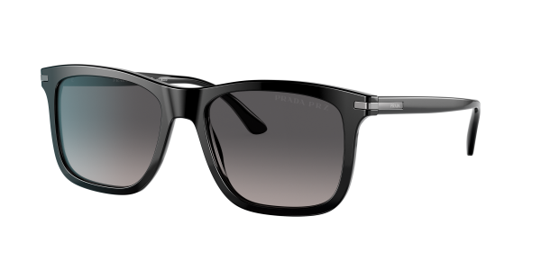 Prada Man PR 18WS - Frame color: Black, Lens color: Polarized Grey Gradient, Size 56-18/150