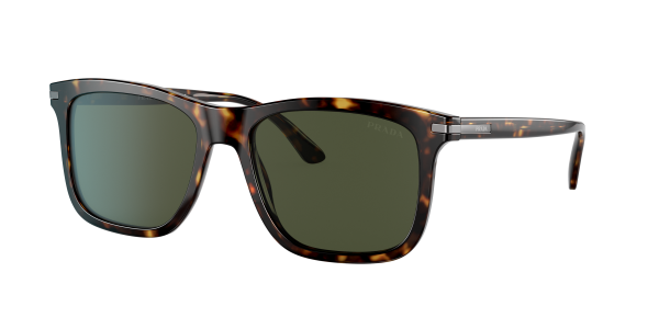 Prada Man PR 18WS - Frame color: Tortoise, Lens color: Green Classic G-15, Size 53-18/145