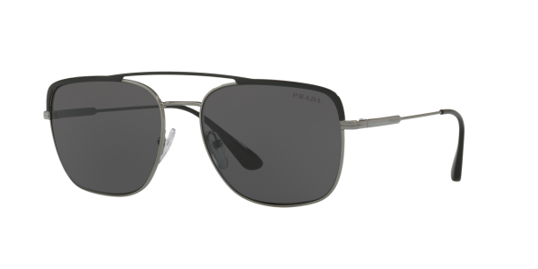 Prada Man PR 53VS - Frame color: Black, Lens color: Grey, Size 59-18/145