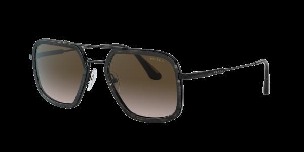 Prada Man PR 57XS - Frame color: Black, Lens color: Brown Gradient, Size 54-20/140