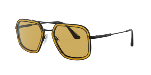Prada Man PR 57XS - Frame color: Gunmetal, Lens color: Yellow, Size 54-20/140