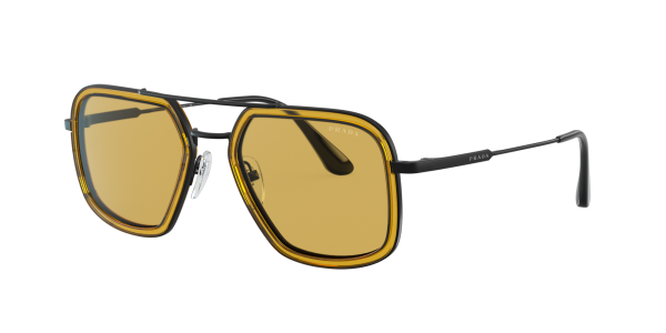 Prada Man PR 57XS - Frame color: Gunmetal, Lens color: Yellow, Size 54-20/140