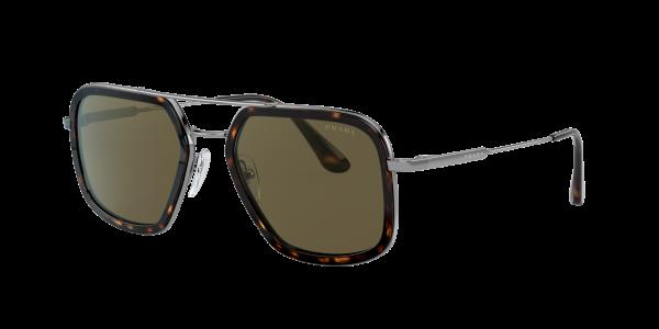 Prada Man PR 57XS - Frame color: Tortoise, Lens color: Brown Gradient, Size 54-20/140