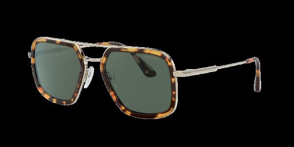 Prada Man PR 57XS - Frame color: Tortoise, Lens color: Green, Size 54-20/140