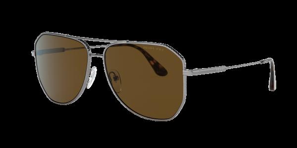 Prada Man PR 63XS - Frame color: Gunmetal, Lens color: Brown Gradient Mirror, Size 61-14/150