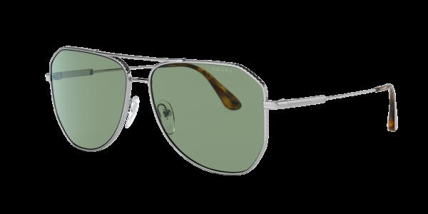 Prada Man PR 63XS - Frame color: Silver, Lens color: Green, Size 61-14/150