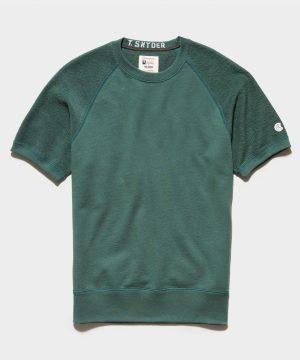 Reverse French Terry Short Sleeve Sweatshirt in Hunt Club
