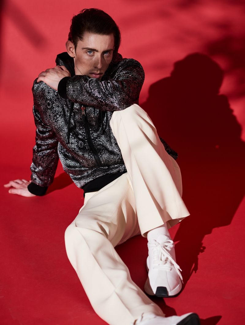 Rodrigue Durard Sports Eclectic Looks for L'Officiel Hommes Maroc