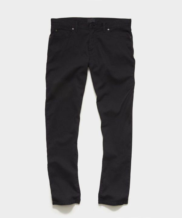 SLIM FIT 5-POCKET BEDFORD CORD PANT IN BLACK