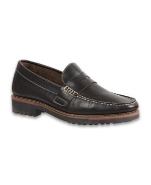 Sandro Moscoloni Men's Moc Toe Penny Strap Men's Shoes