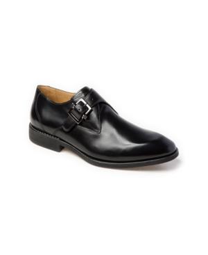Sandro Moscoloni Plain Toe Monk Strap Slip-On Men's Shoes