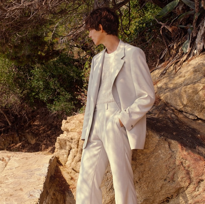 Lucas El Bali & Guiaume Beaudru Front Sandro Spring Campaign