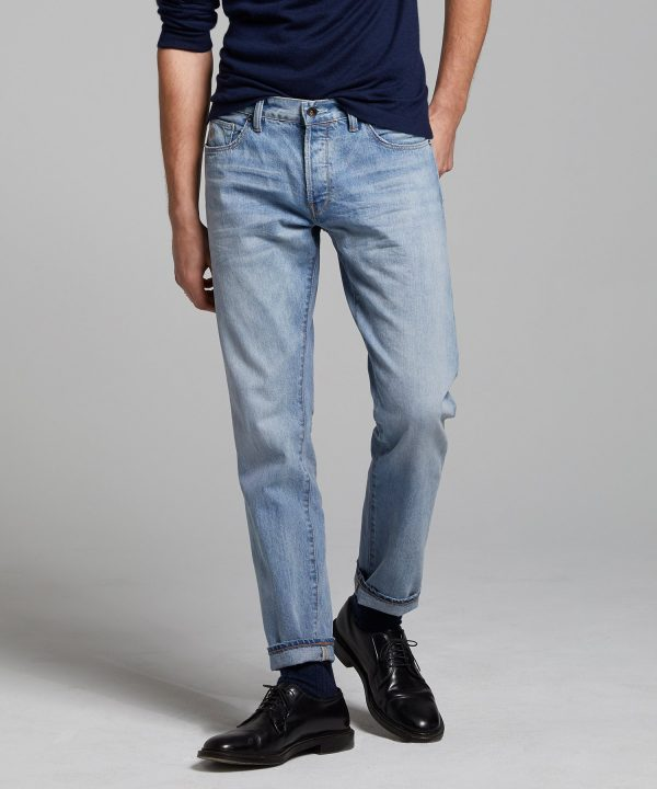 Slim Fit Selvedge Jean in Bleach Out Wash