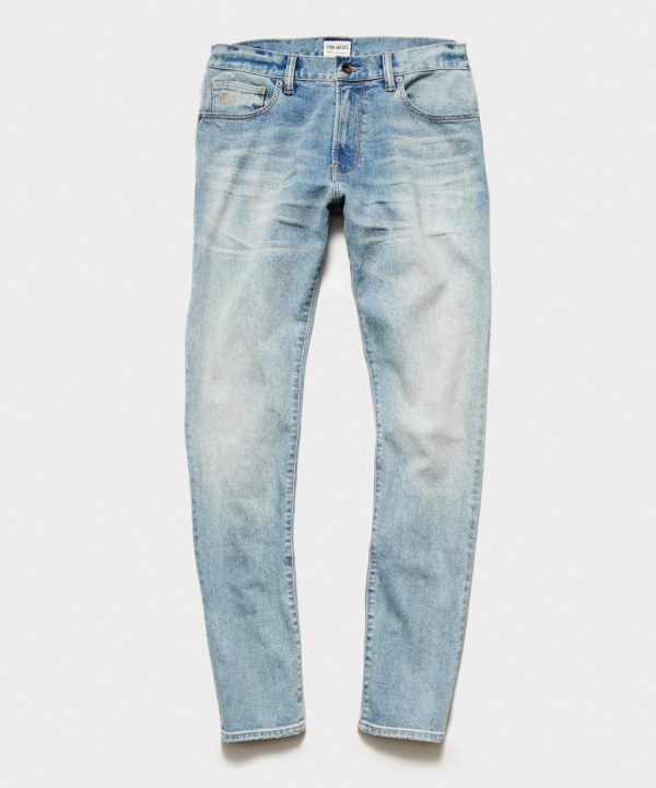 Slim Fit Stretch Jean in Faded Wash