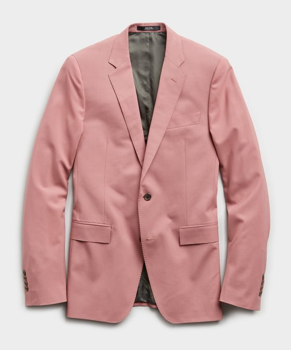 Sutton Wool Gabardine Suit Jacket in Mauve