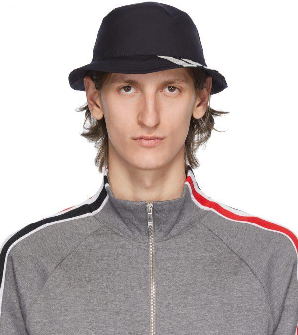 Thom Browne Navy 4-Bar Classic Bucket Hat