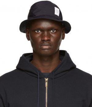 Thom Browne Navy Classic Bucket Hat