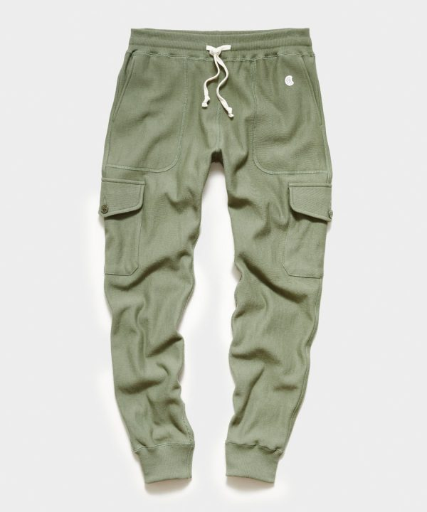 Utility Cargo Sweatpant in Olive Grove