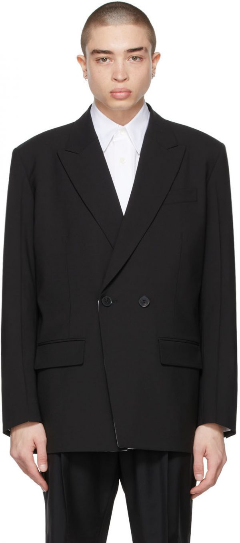 Valentino Black Double-Breasted Blazer