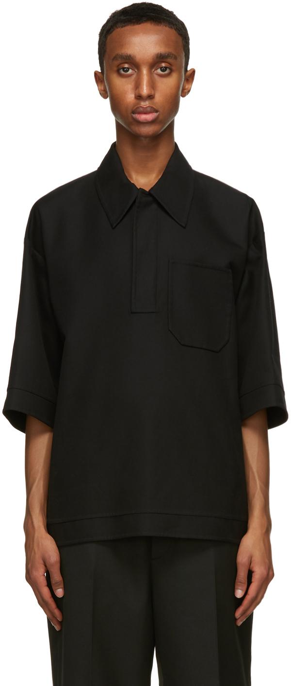 Valentino Black Double-Faced Polo Shirt
