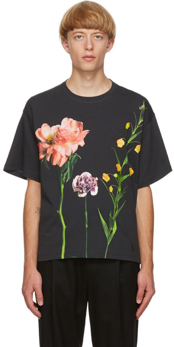 Valentino Black Inez & Vinoodh Edition Floral T-Shirt