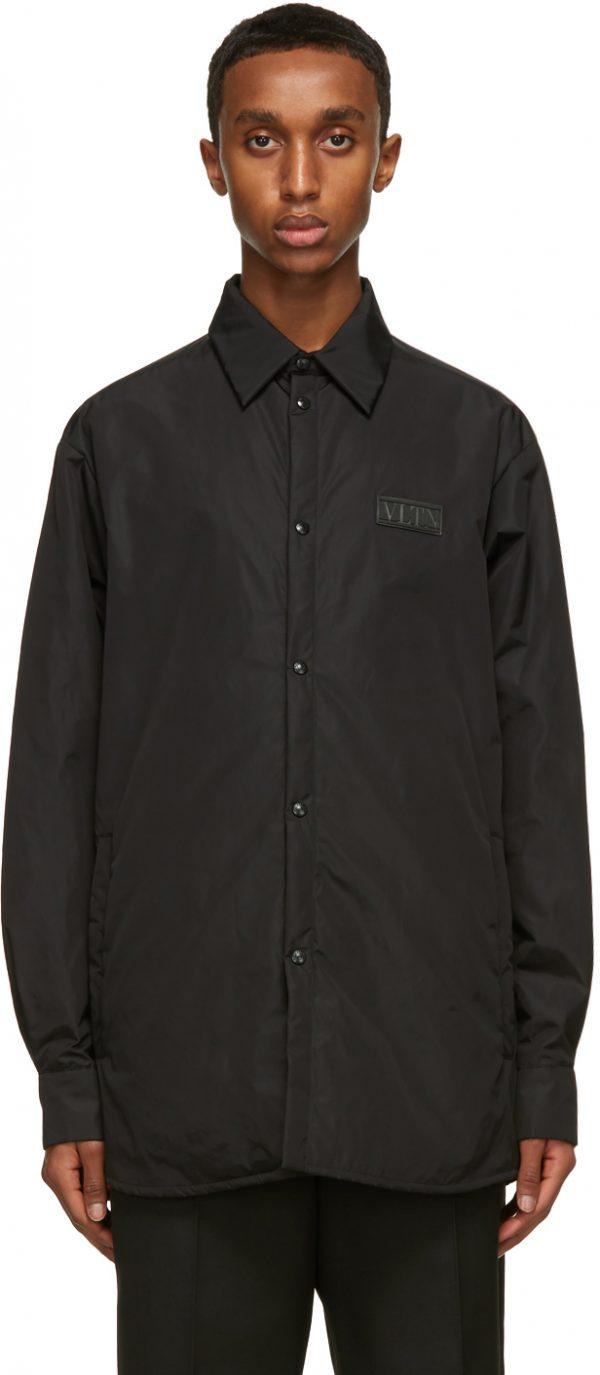 Valentino Black Padded 'VLTN' Jacket