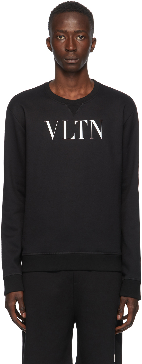 Valentino Black 'VLTN' Sweatshirt