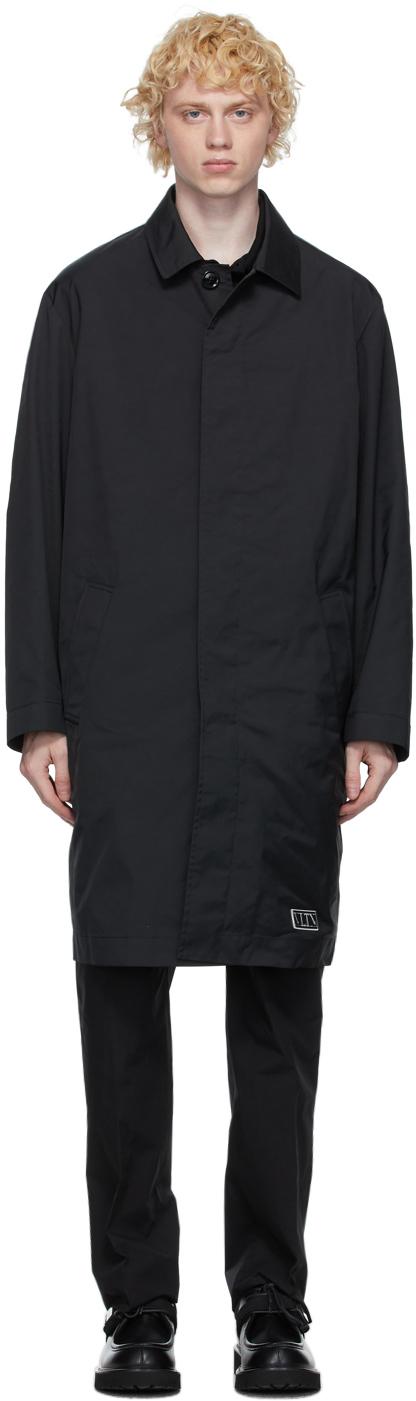 Valentino Black 'VLTN' Tag Coat