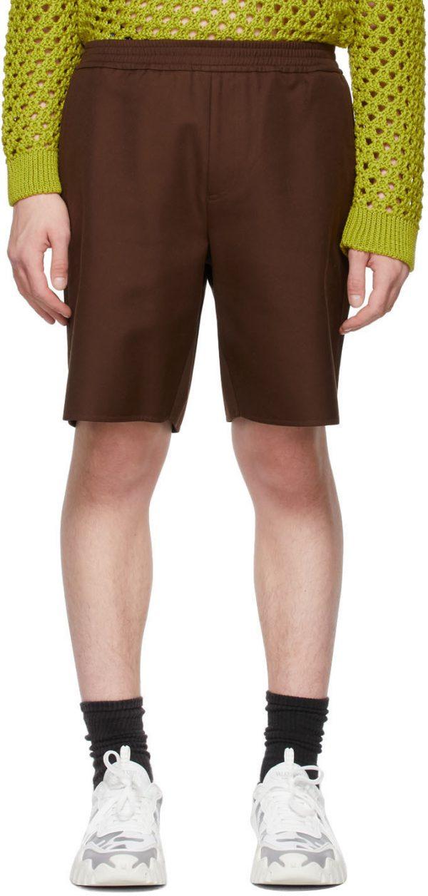 Valentino Brown Twill Bermuda Shorts