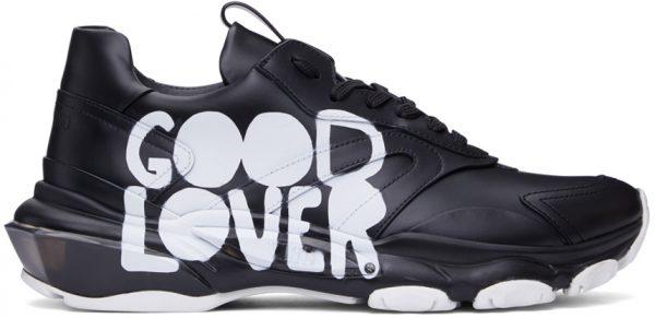 Valentino Garavani Black Mélanie Matranga Edition 'Good Lover' Sneakers