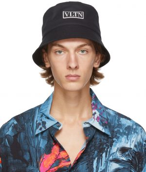 Valentino Garavani Black VLTN Bucket Hat