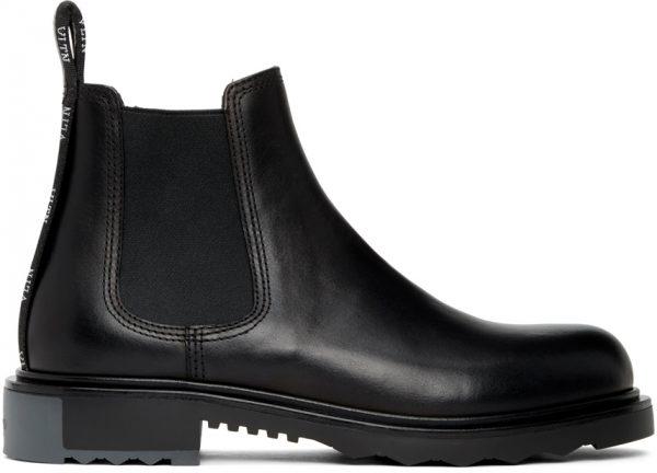 Valentino Garavani Black Valentino Garavani Beatle Chelsea Boot