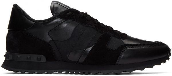 Valentino Garavani Black Valentino Garavani Camo Rockrunner Sneakers