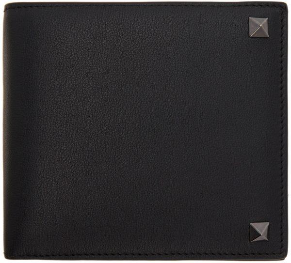 Valentino Garavani Black Valentino Garavani Rockstud Bifold Wallet