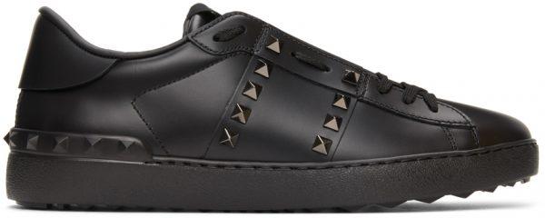 Valentino Garavani Black Valentino Garavani Rockstud Untitled Sneakers