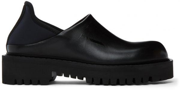 Valentino Garavani Black Valentino Garavani Tonal 'VLTN' Loafers