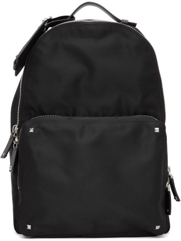 Valentino Garavani Black Valentino Garavani 'VLTN' Backpack