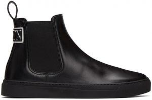 Valentino Garavani Black Valentino Garavani 'VLTN' Beatle Chelsea Boots