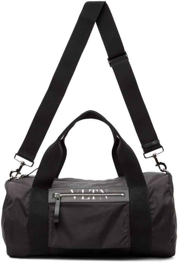Valentino Garavani Black Valentino Garavani 'VLTN' Medium Boston Duffle Bag