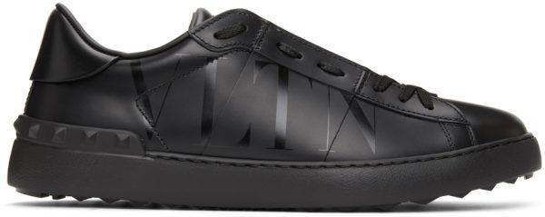 Valentino Garavani Black Valentino Garavani 'VLTN' Open Sneakers