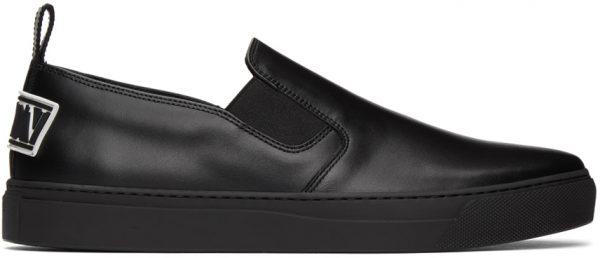 Valentino Garavani Black Valentino Garavani 'VLTN' Slip-On Sneakers