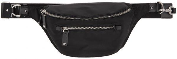 Valentino Garavani Black Valentino Garavani 'VLTN' Strap Waist Bag