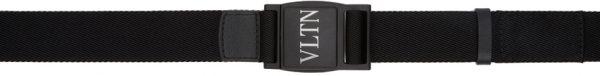 Valentino Garavani Black Valentino Garavani 'VLTN' Tape Belt