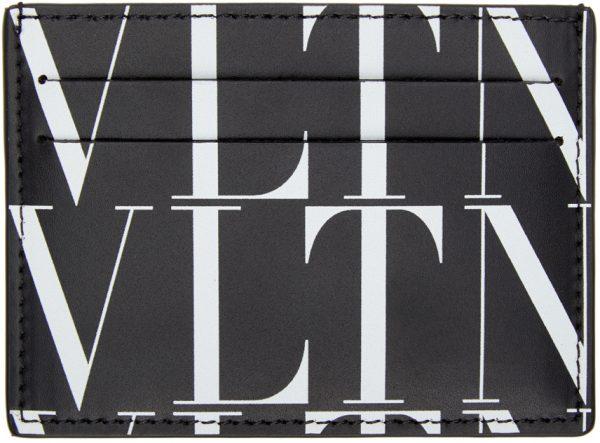 Valentino Garavani Black Valentino Garavani 'VLTN' Times Card Holder