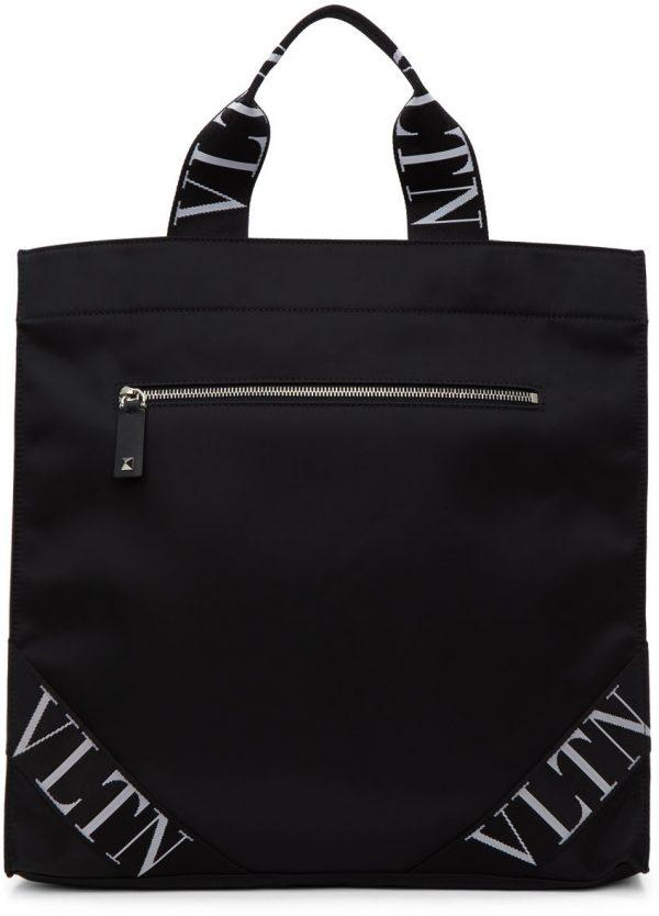 Valentino Garavani Black Valentino Garavani 'VLTN' Tote Bag